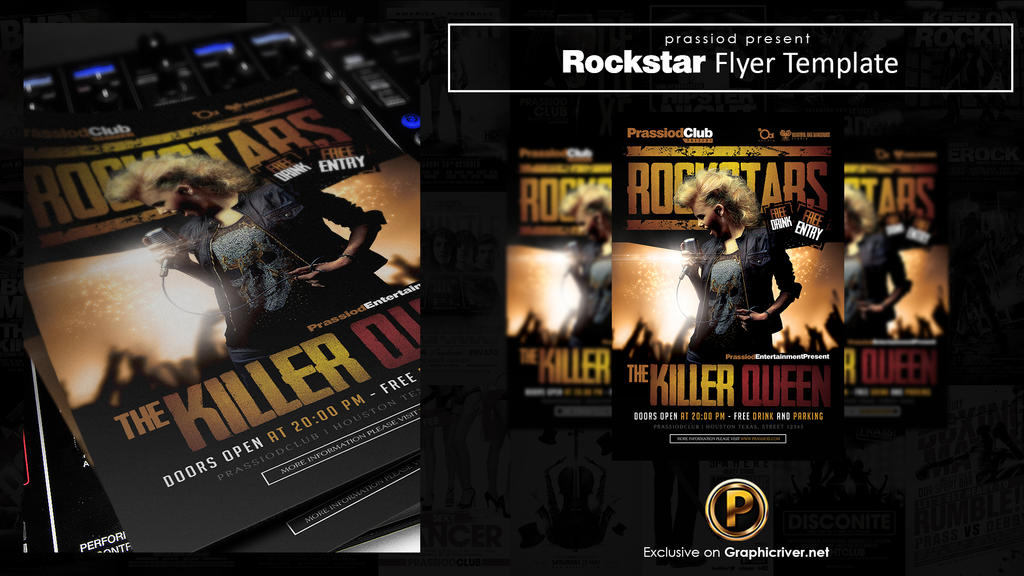 Rockstar Flyer Template by prassetyo