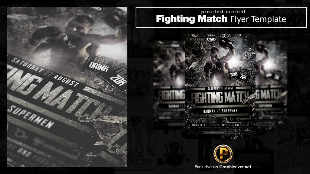 Fighting Match Flyer Template by prassetyo