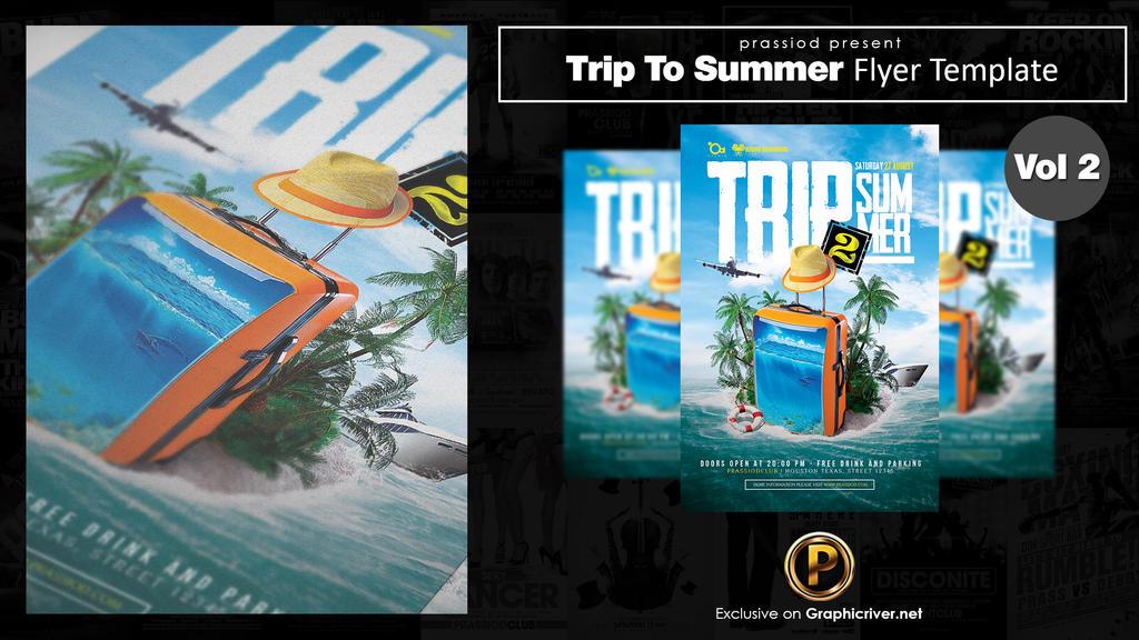 Trip To Summer Flyer Template Vol 2 by prassetyo
