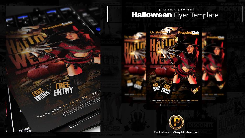 Halloween Flyer Template by prassetyo
