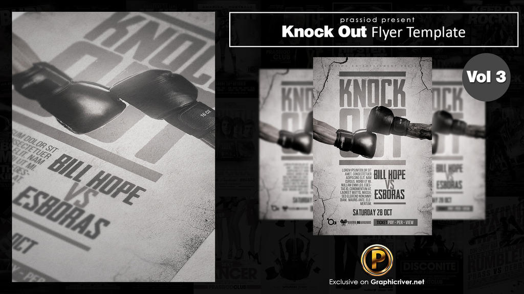 Knock Out Flyer Template Vol 3 by prassetyo