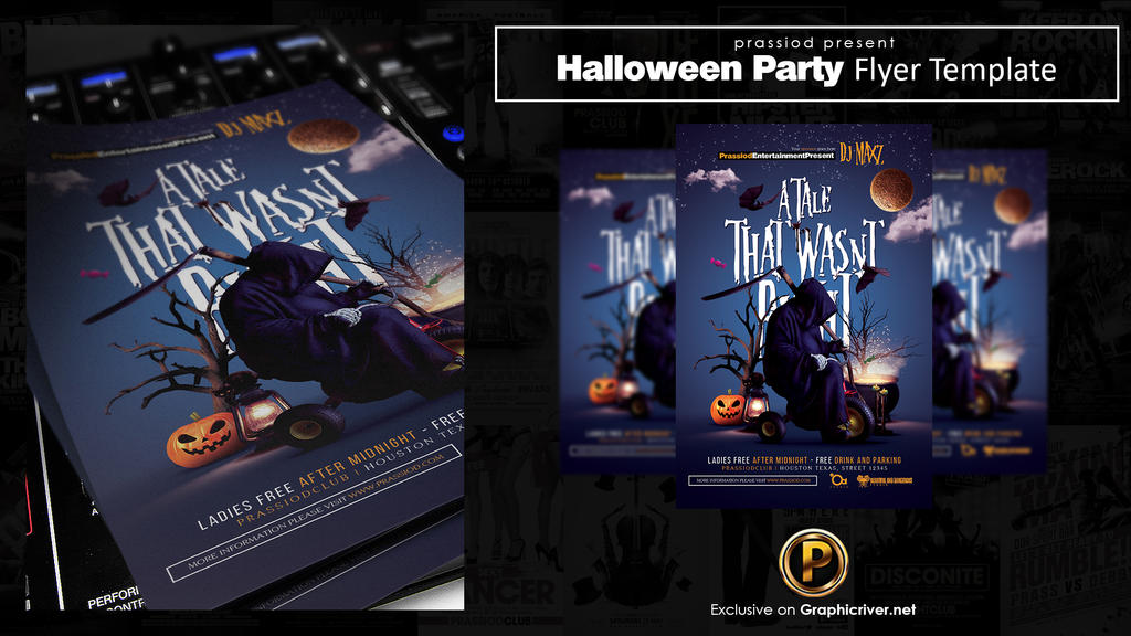 Halloween Party Flyer Template by prassetyo