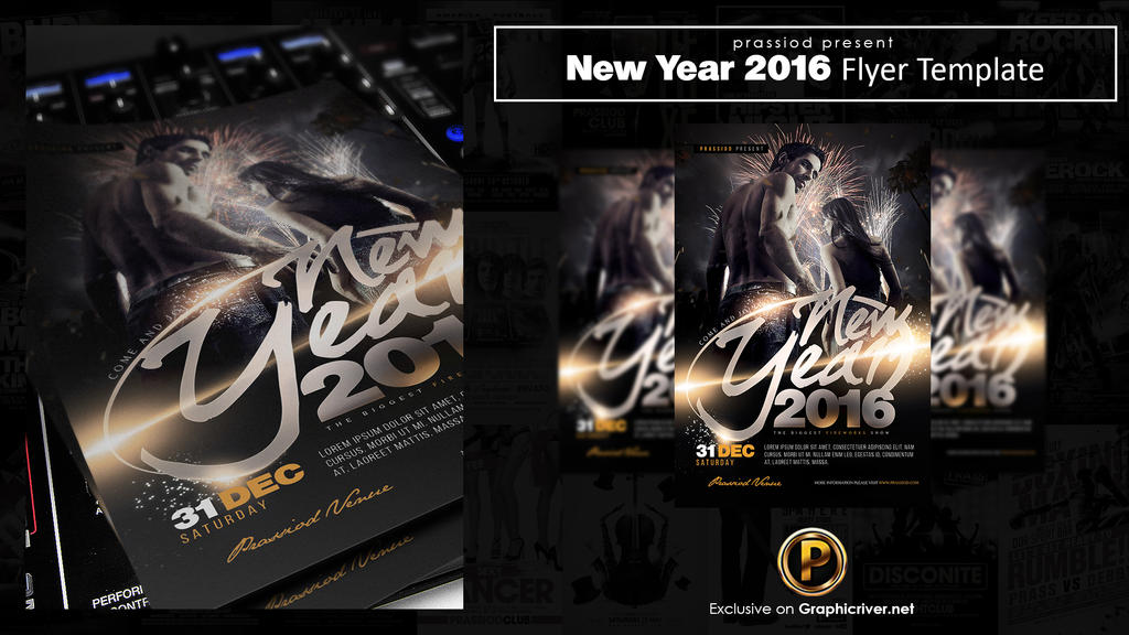New Year 2016 Flyer Template by prassetyo