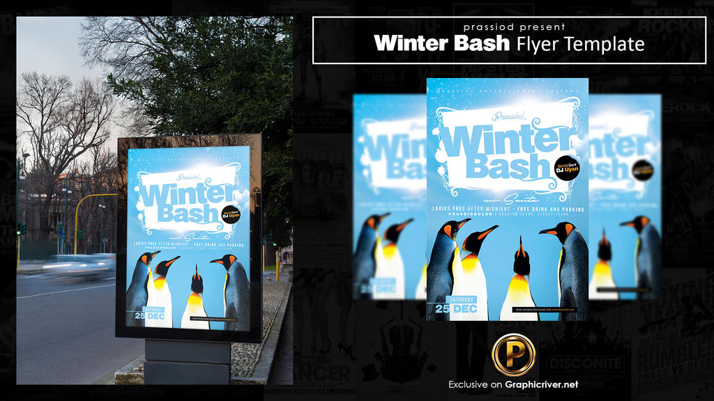 Winter Bash Flyer Template by prassetyo