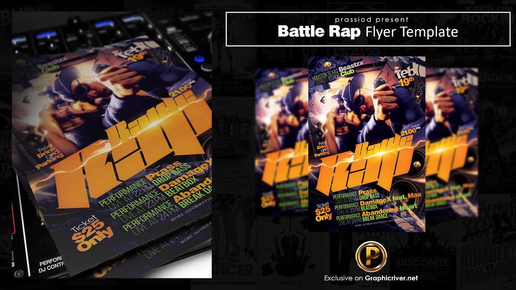 Battle Rap Flyer Template by prassetyo