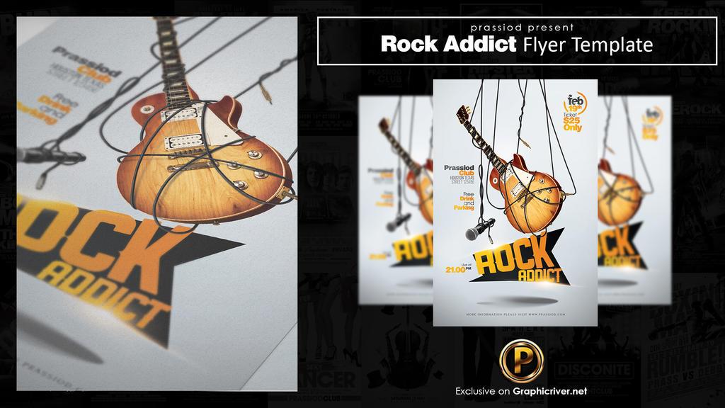 Rock Addict Flyer Template by prassetyo