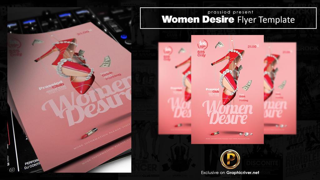 Women Desire Flyer Template by prassetyo