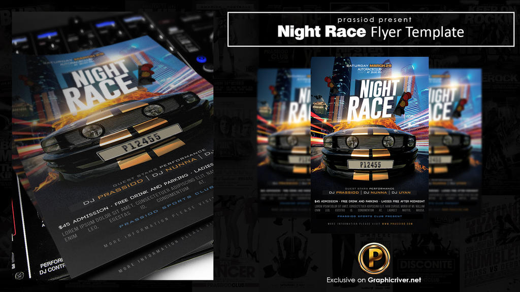 night at the races flyer template recet productoseb co