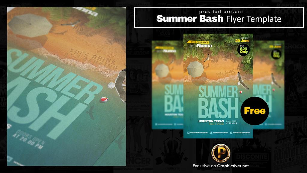 Summer Bash Flyer Template by prassetyo