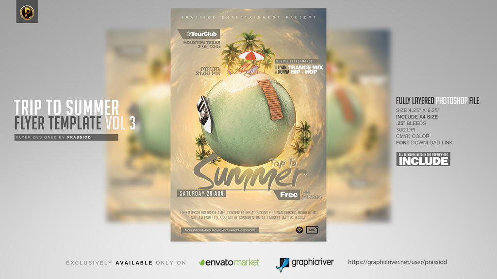 Trip To Summer Flyer Template Vol 3 by prassetyo