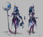 Midnight Soraka skin concept