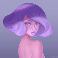 Lilac Lady by JeanLeeArt