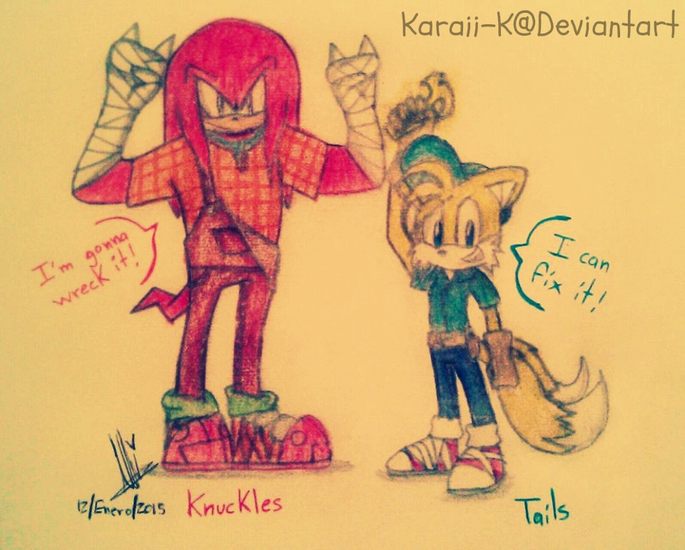 Knuckles and Tails - Wreck-It Ralph by Karaii-K on DeviantArtWreck It Ralph Tails