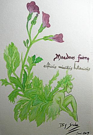 Meadow fairy (watercolours) by SuluMansonNosferatu