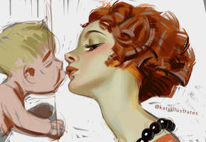 Day 13 Painting - Leyendecker Study by katyillustrates