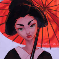 Day 55 - Geisha by katyillustrates