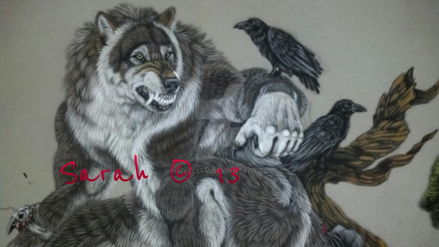 detail shot of ravens by Nirvelli-V