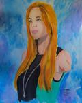 Bethany Hamilton Pro Surfer Watercolor portrait