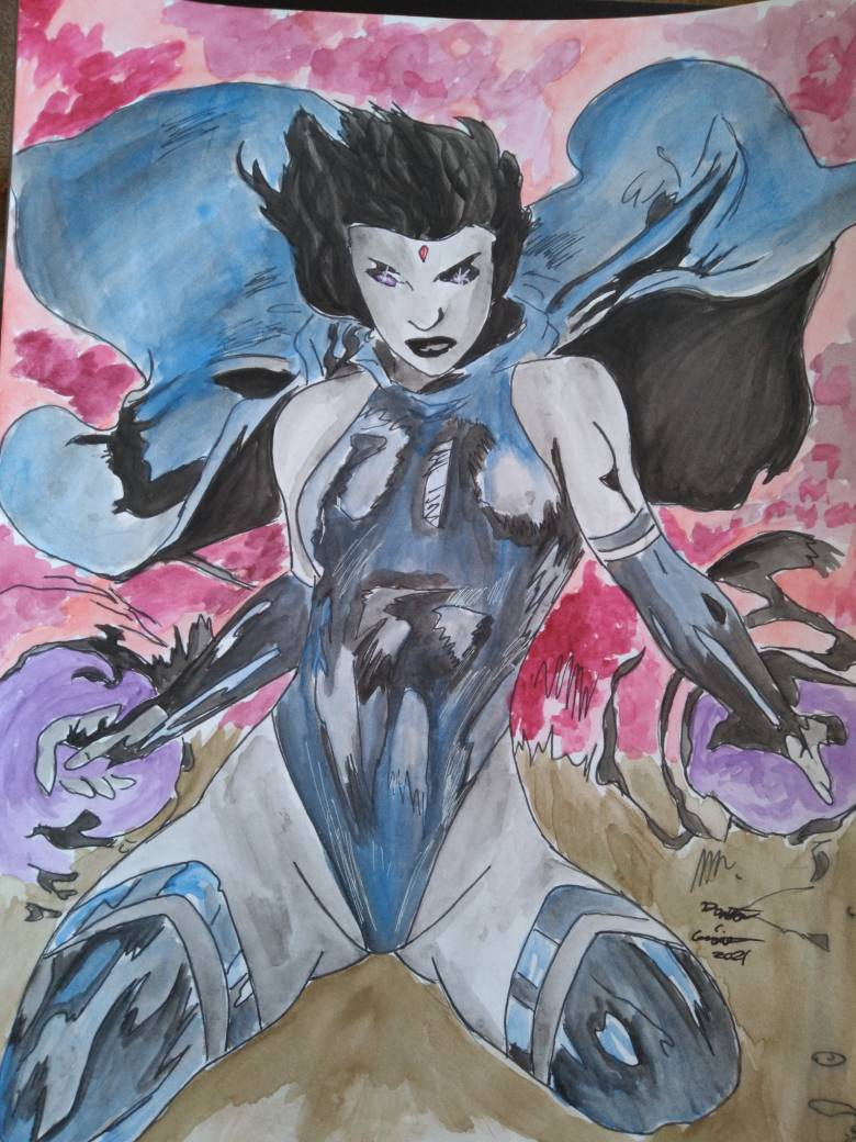 Raven from Teen Titans watercolor