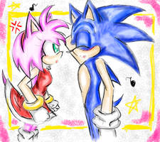 Sonamy - you're so cute by Bell13Wolf05