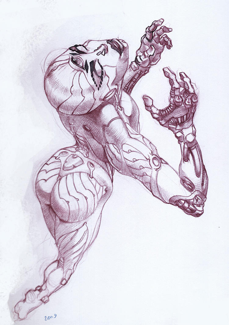 Cyborg chick by I-GUYJIN-I