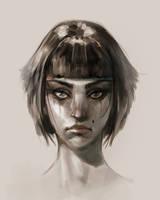 girl face by I-GUYJIN-I