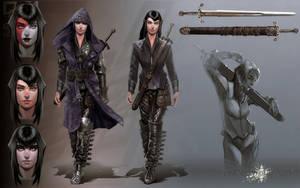 Female mercenary concept by I-GUYJIN-I