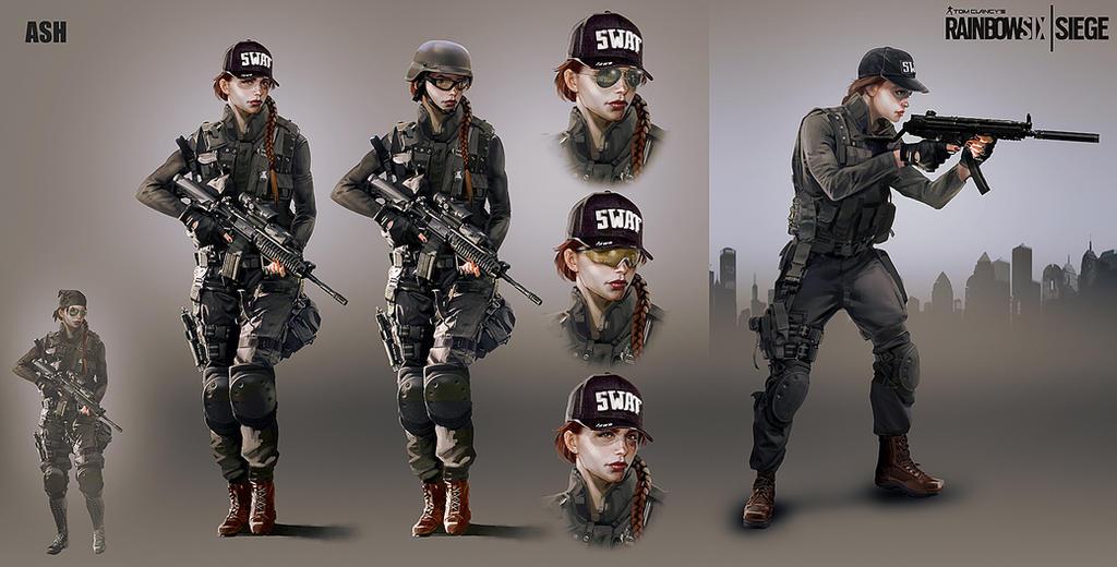 Soldier Video Games Rainbowsix Siege Digital Art Dark: Ash2R6 By I-GUYJIN-I On DeviantArt