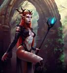 Horned priestess