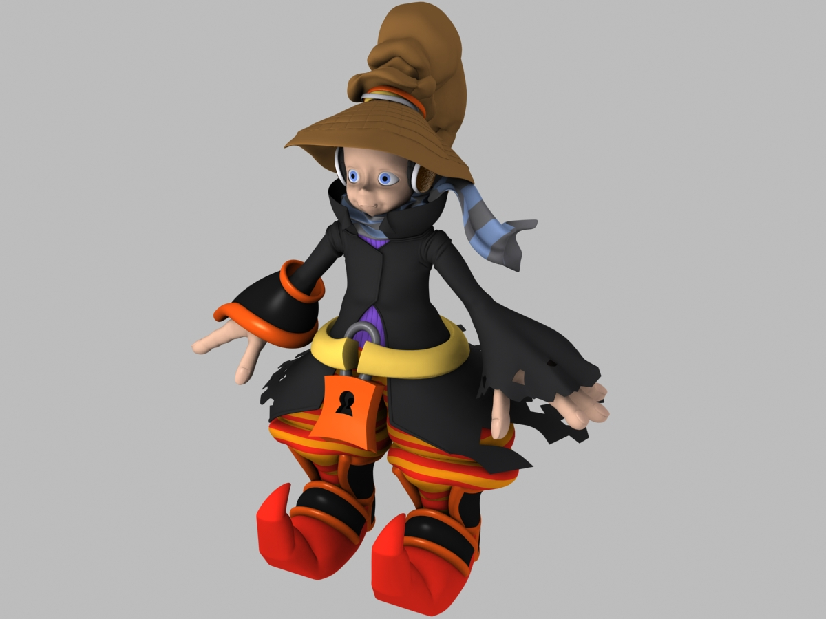 Cartoon Characters High : D model character cartoon high poly by nigeos on deviantart