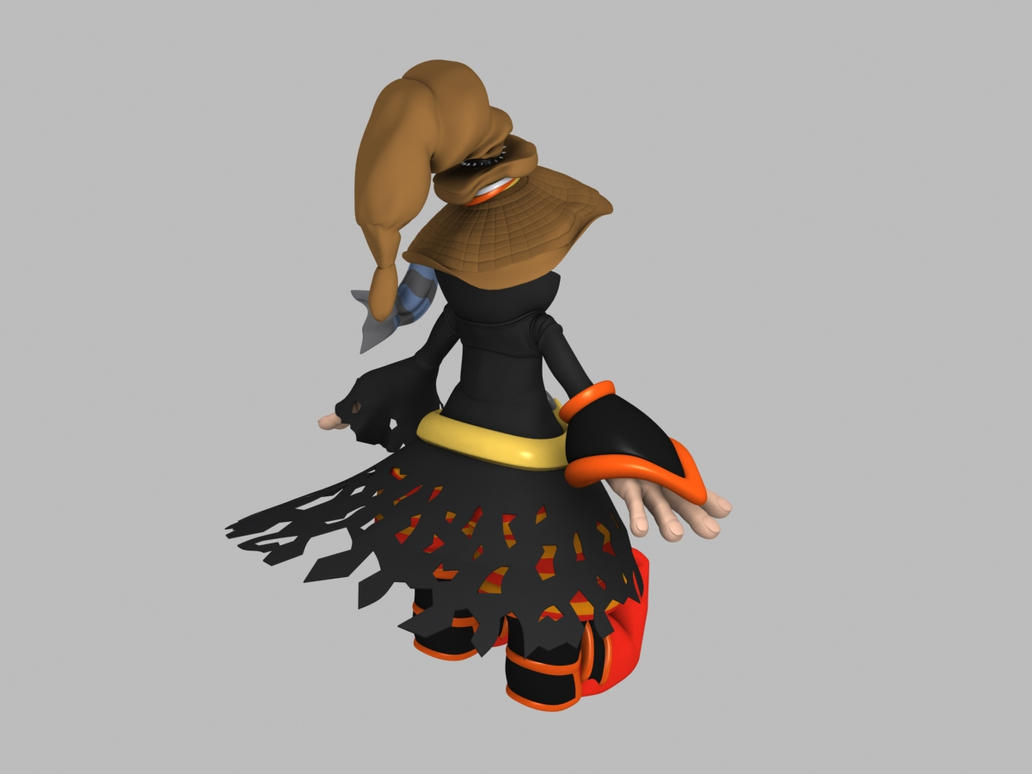Cartoon Characters High : D model character cartoon high poly back view by nigeos