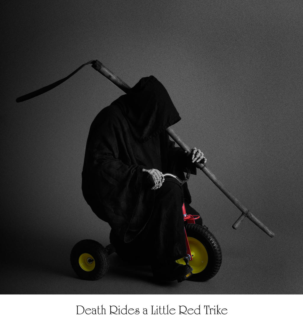 Death Rides ... a Red Trike by mjranum