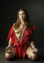 Red Silk Girl - I by mjranum