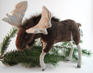 Pose-able Moose Plush by AnimalArtKingdom