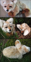 Tan Fox Plush Commission