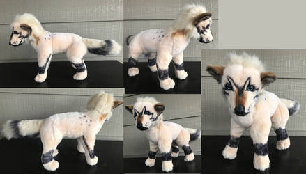 13in tall Custom Tokota Wolf Plush