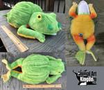 21in long Custom Frog Plush