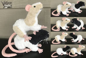 7in tall Rat Plushie by AnimalArtKingdom