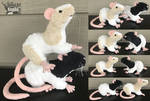 7in tall Rat Plushie