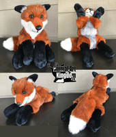 23in Red Fox Floppy Plush by AnimalArtKingdom