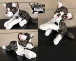 23in Tabby Cat Floppy Plush by AnimalArtKingdom