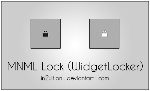 MNML Lock (WidgetLocker) by In2uition
