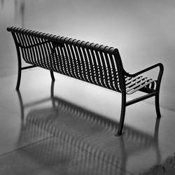 Bench in floodwater