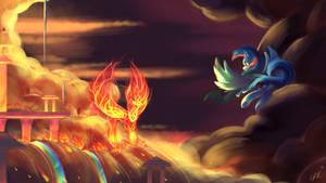 Commission: Cloudsdale Ablaze