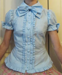 Blue Blouse by DifferentFree