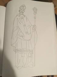 Old Sketch of Saint Patrick