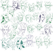 Goat expressions by tigr3ss