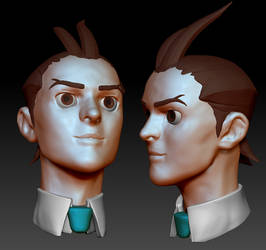 Apollo Justice sculpt