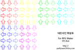 Neon Arrow Sign Characterset (RM VX/Ace)
