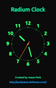 Radium Clock Webapp